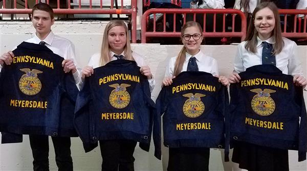FFA jackets presented during Farm Show