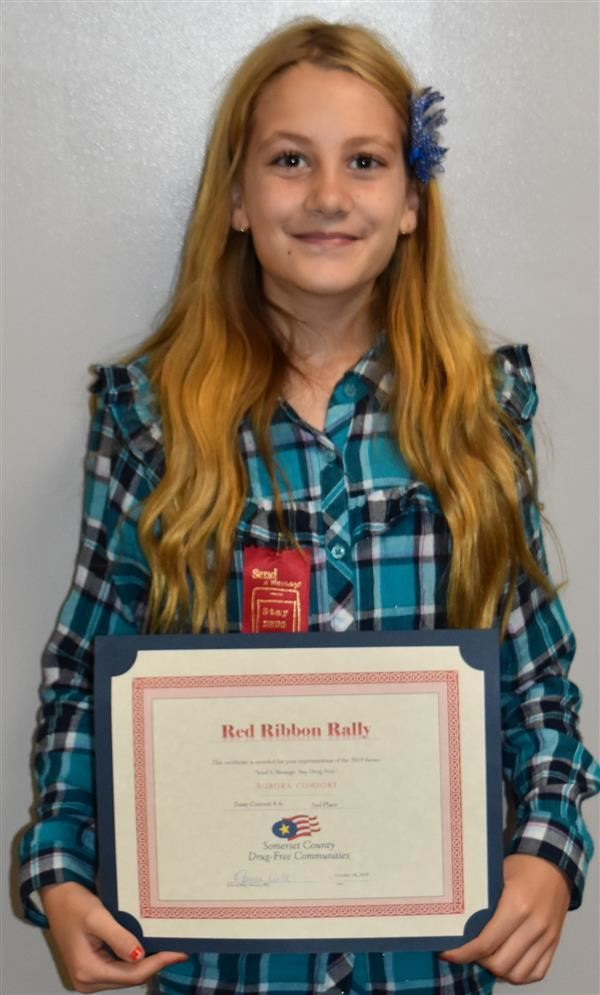 Comfort honored at Red Ribbon Rally