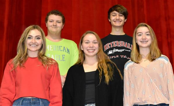 Students selected to attend District Chorus