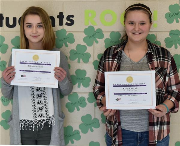Middle School students win essay contest