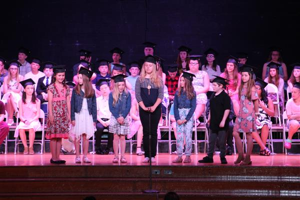 Graduation ceremony held for fifth grade