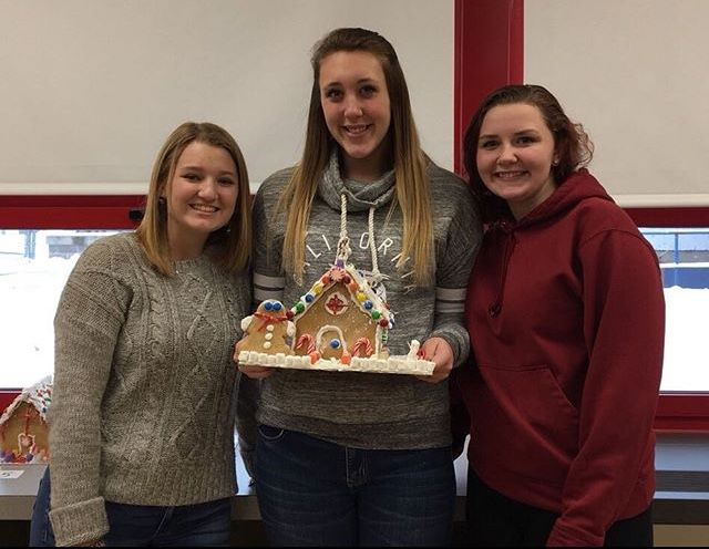 Winners of the Gingerbread House contest