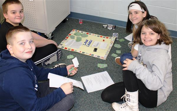 Civics students create board games
