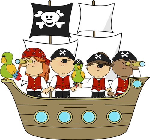Pirates on a Ship