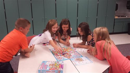 3rd grade students during their cooperative play extension.